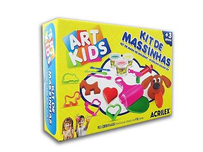 Super Kit de Massinhas com 11 peças Art Kids Acrilex