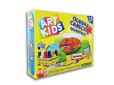 Quebra Cabeça Divertido Tartaruga em MDF Art Kids Acrilex