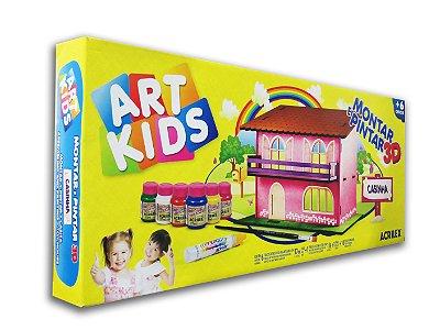 Montar e Pintar 3D Casinha em MDF Art Kids Acrilex