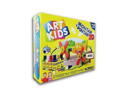 Montar e Pintar 3D Avião em MDF Art Kids Acrilex
