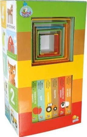 Livro Primeiros Passos do Bebê Fazenda Livrinhos + Bloquinhos