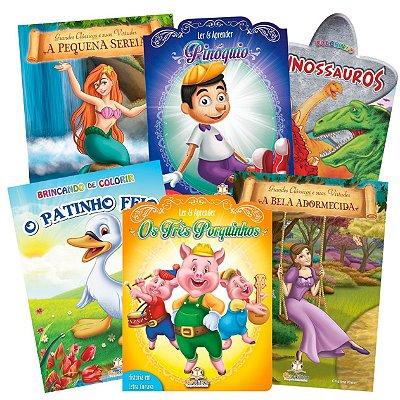 Mega Coleção com 100 Livros Infantis Sortidos