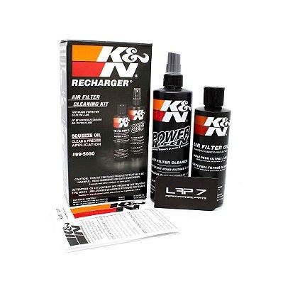 Kit de limpeza filtro ar com óleo em Squeeze K&N 99-5050