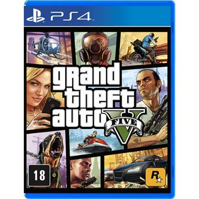 Jogo Grand Theft Auto V - GTA V - GTA 5 - PS4