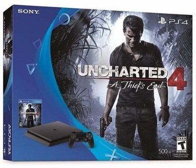 Console PlayStation 4 Slim 500 Gb + Jogo Uncharted 4 - Sony