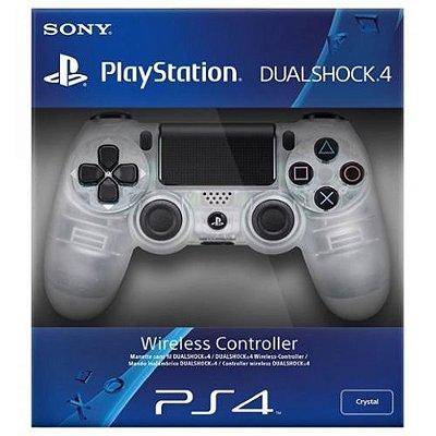 Controle Sony Dualshock 4 (Edição Crystal - Transparente) Sem Fio - PS4