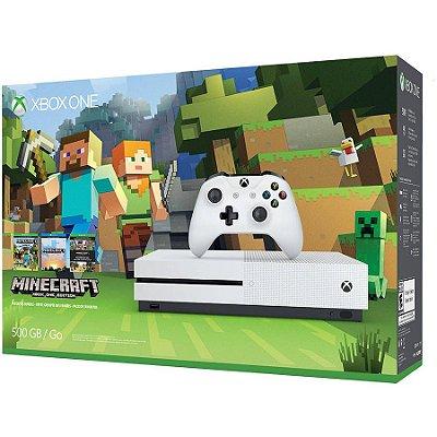 Xbox One S Branco 500 Gb Edição Bundle Minecraft