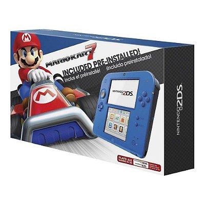 Nintendo 2ds Jogo Mario Kart 7 Azul - Nintendo
