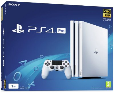 Console PlayStation 4 Pro 4k - Branco White - 1 Tb - Sony