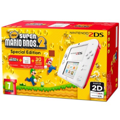 Nintendo New 2DS Branco + Jogo New Super Mario Bros 2 - Nintendo