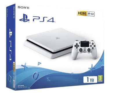Console PlayStation 4 Slim Branco Glacier Whyte 1 Tera - Sony