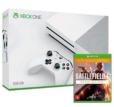 Xbox One S 4k Branco 500 Gb + Jogo Battlefield Bf1 Revolution (Mídia Física) - Microsoft