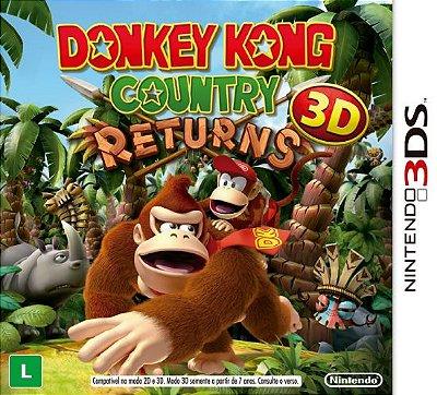 Donkey Kong Country Returns (Seminovo) - 3ds