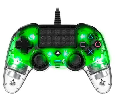 Controle Nacon Compacto Led Verde Transparente - PS4