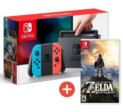 Console Nintendo Switch Gray Cinza ou Neon + Jogo Zelda Breath Of The Wild - Switch