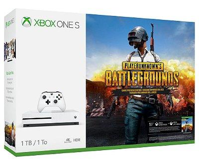 Xbox One S 1 Tera 1 tb Pubg - Playerunknown's Battlegrounds - Microsoft