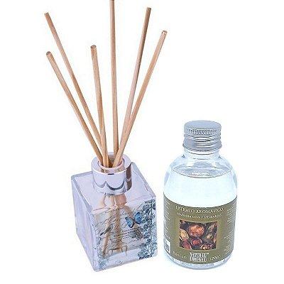 Difusor de Aromas Le Cube Madeira com Especiarias 120 ml - Kit Presente