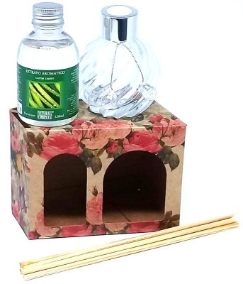 Difusor de Aromas La Plata Capim Limão 120ml - Kit Presente