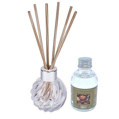 Difusor de Aromas La Plata Madeira com Especiarias 120ml - Kit Presente