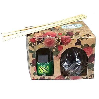 Difusor de Aromas La Plata Capim Limão 315 ml - Kit Presente