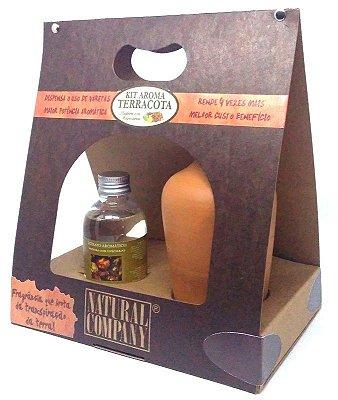 Difusor de Aromas Terracota Madeira com Especiarias 120 ml - Kit Presente