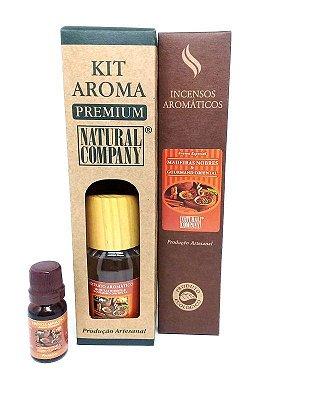 Kit Aroma Premium Estação do Ano Madeiras Nobres - Nota do Outono/Inverno - 4 Produtos no Kit