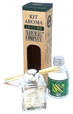 Difusor de Aromas Le Cube Capim Limão 120 ml - Kit Presente