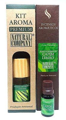 Kit Aroma Premium Estação do Ano Capim Limão - Nota da Primavera - 4 Produtos no Kit