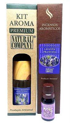 Kit Aroma Premium Estação do Ano Lavanda Francesa - Nota da Primavera - 4 Produtos no Kit