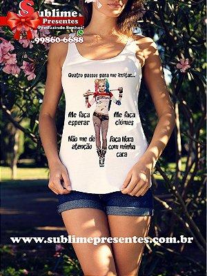 Camiseta feminina Personalizada - Passe sua mensagem
