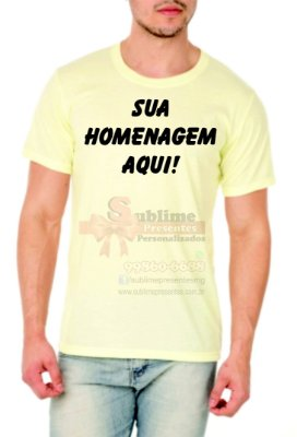 Camisa Personalizada Cores Rosa, Verde e Amarelo