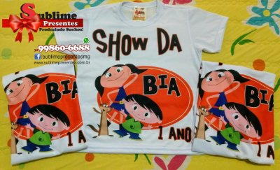 Kit Família Sublime - 3 camisas personalizadas para festa infantil