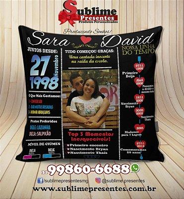 Almofada Personalizada com Foto - Tema: Nossa história 40x40