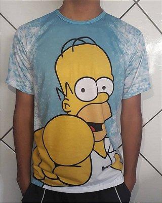 Camisa Sublimação Total - Os Simpsons