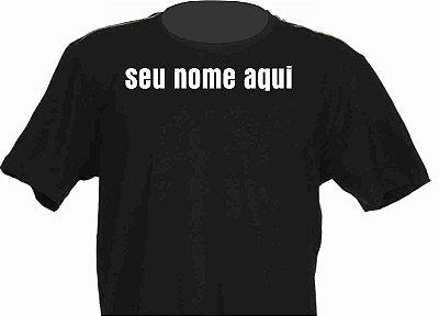 Seu Nome na Camisa Adesivada