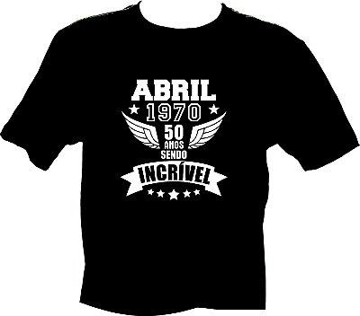 Camiseta Abril 1970 Incrível