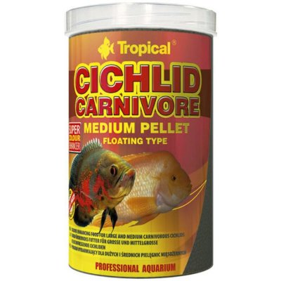 Ração Tropical Cichlid Carnivore Medium Pellet 360g