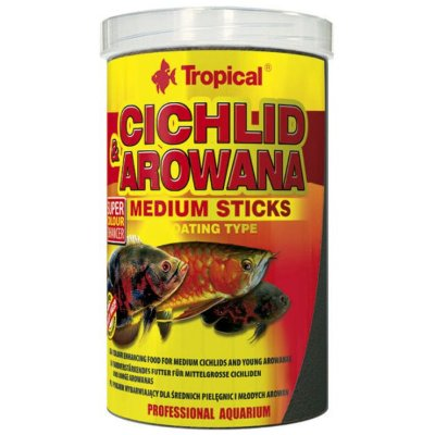 Ração Tropical Cichlid e Arowana Medium Sticks 360g