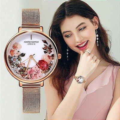 Relógio Floral Colors - 3 cores