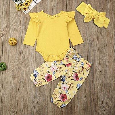 Conjunto Yellow Floral