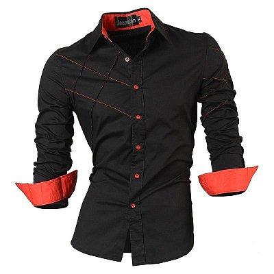 Camisa Cross Preto e Vermelho - Masculina