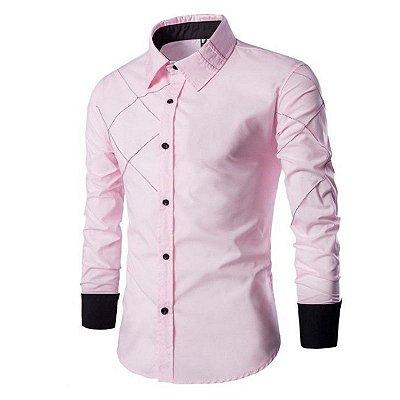 Camisa Cross Rosa Claro - Masculina