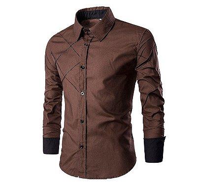 Camisa Cross Marrom - Masculina