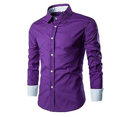 Camisa Cross Roxa - Masculina