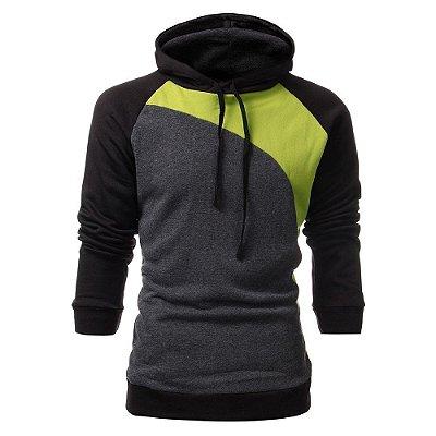 Moletom Colors Masculino - Cinza e Verde