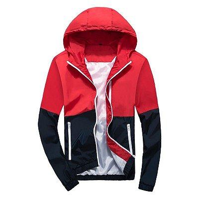 Casaco Bicolor Masculino - Vermelho