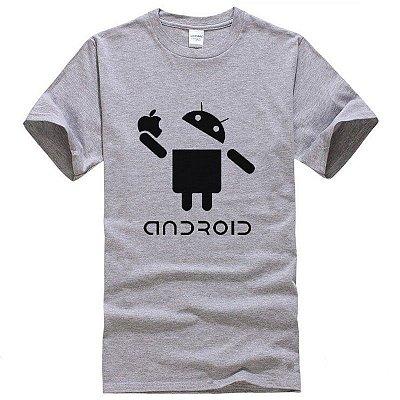 T-shirt Android Cinza - Masculina