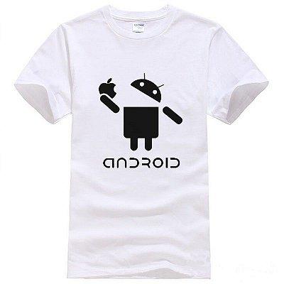 T-shirt Android Branca - Masculina