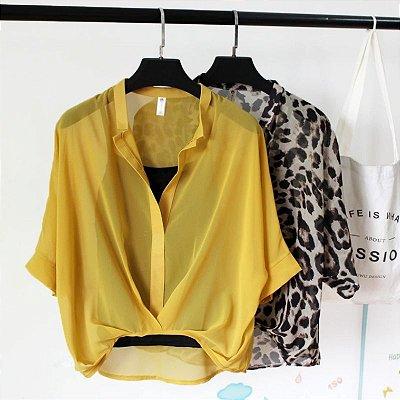 Blusa com Sobreposição - 9 cores
