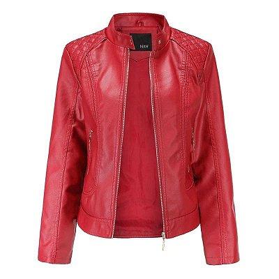 Jaqueta Feminina Leather Zíper - 5 cores